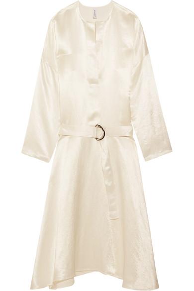 Georgia Alice - Satin Midi Dress - White