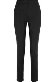 Stretch-wool skinny pants