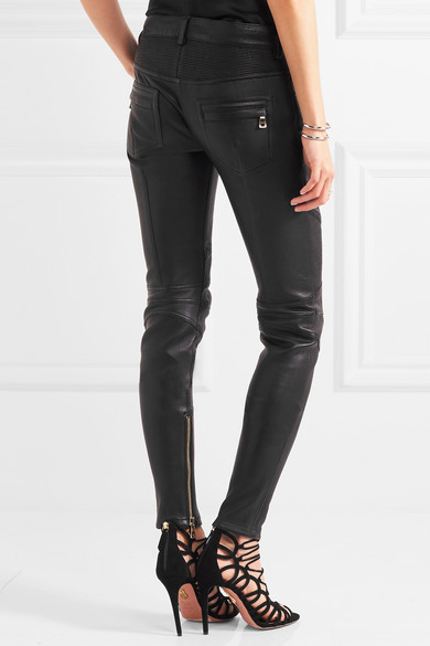 c63dbc59809 Balmain   Moto-style leather skinny pants   NET-A-PORTER.COM