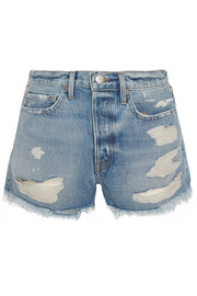 FRAME Rigid Re-Release Le Original distressed denim shorts