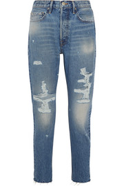 FRAME Rigid Re-Release Le Original Skinny distressed high-rise jeans
