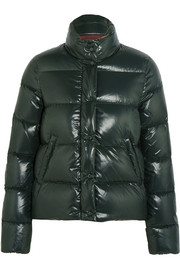 Brethil quilted glossed-shell down jacket