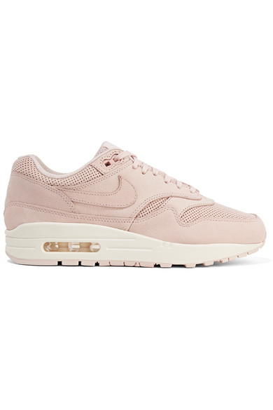 Nike. Air Max 1 Pinnacle perforated faux nubuck sneakers