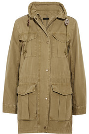 J.Crew Fatigue hooded cotton-canvas jacket