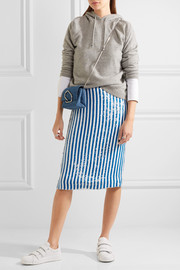 J.Crew Kingfisher sequined silk crepe de chine skirt