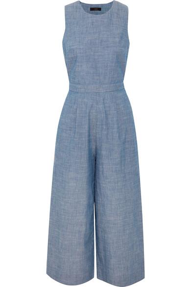 J.Crew - Saron Cotton-chambray Jumpsuit - Blue