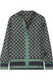 J.Crew Darwish printed silk-twill shirt
