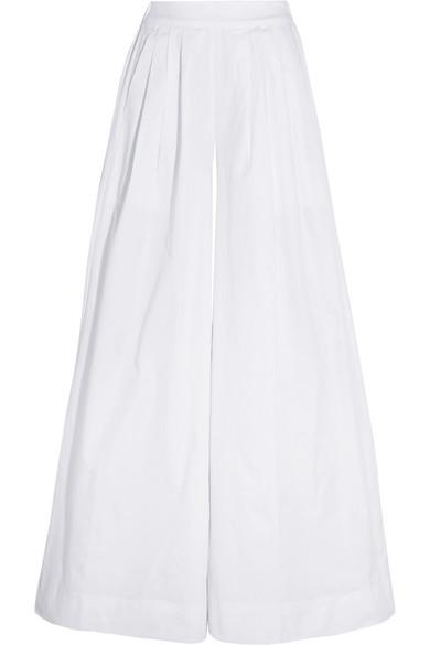 J.Crew - Collection Cotton-twill Wide-leg Pants - White