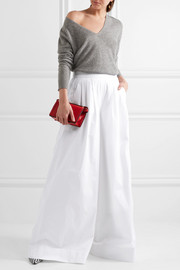 J.Crew Collection cotton-twill wide-leg pants