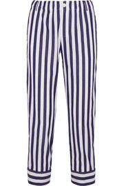 + Thomas Mason Andy cropped striped cotton straight-leg pants
