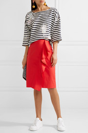 J.Crew Painted striped cotton-jersey top
