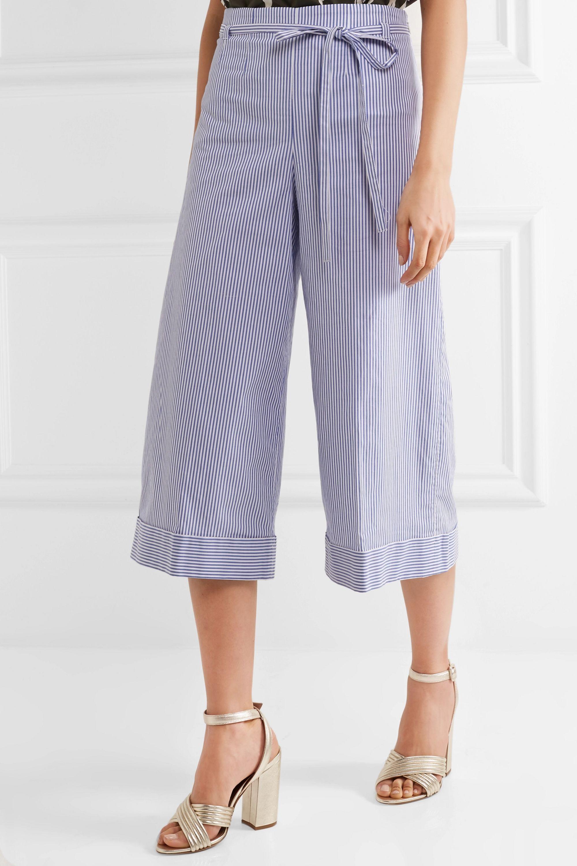 J.Crew Banada striped stretch-cotton wide-leg pants
