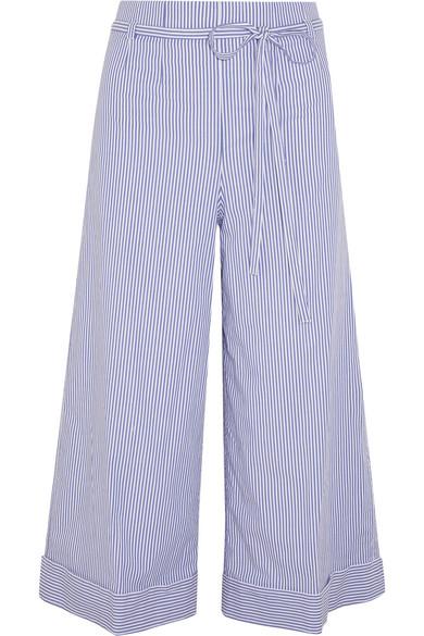 J.Crew - Banada Striped Stretch-cotton Wide-leg Pants - Blue