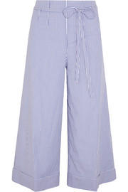Banada striped stretch-cotton wide-leg pants