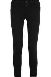 FRAME Skinny de Jeanne Raw Stagger mid-rise jeans