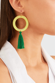 Titan gold-tone crystal earrings