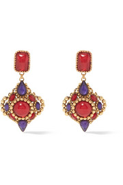 Erickson Beamon Hunky Dory gold-plated Swarovski crystal earrings