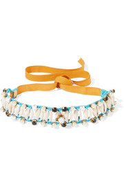 Erickson Beamon Shell and multi-stone choker