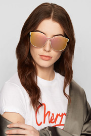 Karen Walker Star Sailor round-frame gold-tone and acetate mirrored sunglasses