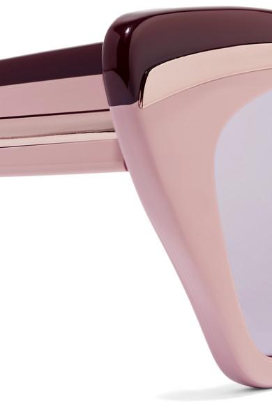 e99b0967bdd Karen Walker. Babou cat-eye acetate and silver-tone mirrored sunglasses.   157.50. Zoom In