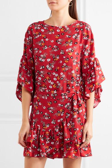 robe maje rouge motif