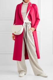 Maje Belted wool-blend felt coat