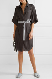 Maje Belted twill shirt dress