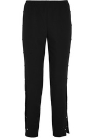 Maje Faille-trimmed stretch-crepe pants
