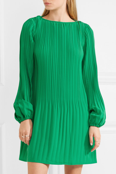 e6a0b02a8d63 Maje | Pleated crepe mini dress | NET-A-PORTER.COM