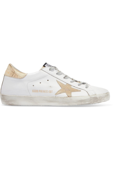 White Croc Superstar Sneakers Golden Goose FgSOxys