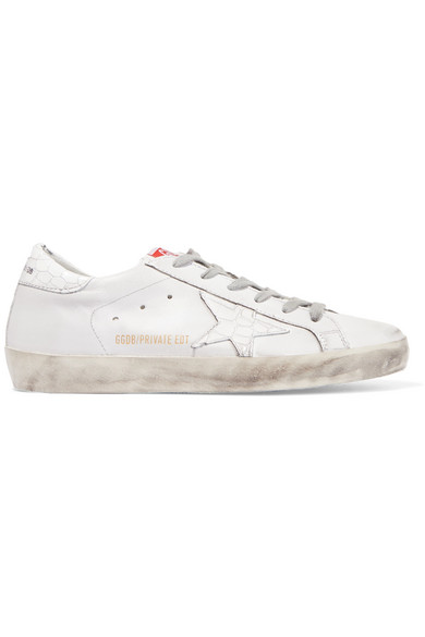 Sale - Superstar Leather Lace-Up Trainers - Golden Goose Deluxe Brand Golden Goose nUHskvl