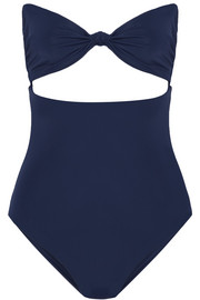 Knotted cutout swimsuit