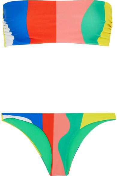 Mara Hoffman - Striped Bandeau Bikini - Pink
