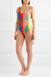 Mara Hoffman Striped swimsuit