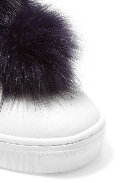 2e99470be59433 Sam Edelman. Leya faux fur-trimmed leather slip-on sneakers. £30. Zoom In