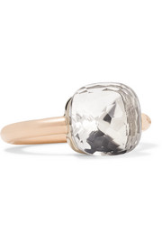 Nudo Classic 18-karat rose gold topaz ring