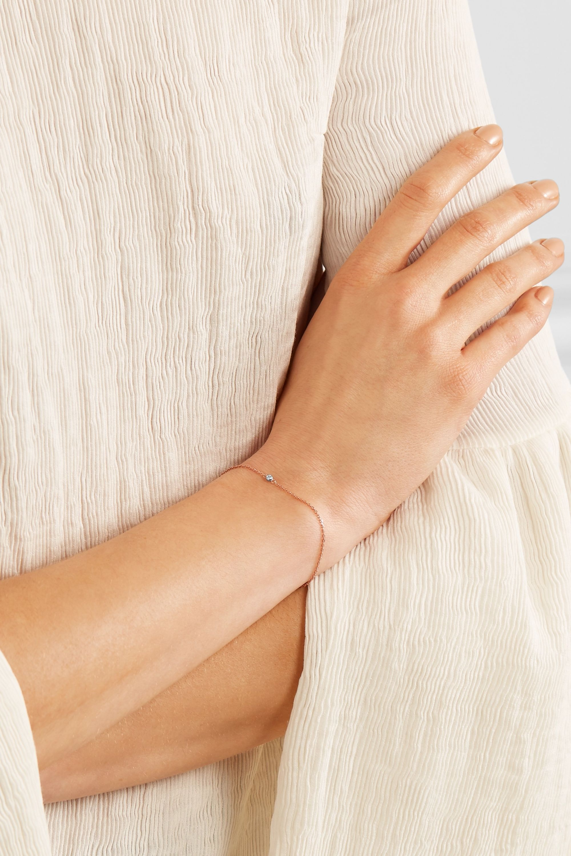Catbird Tiny Corsage 14-karat rose gold diamond bracelet