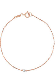 Tiny Corsage 14-karat rose gold diamond bracelet