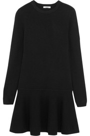 GANNI Merino wool-blend mini dress