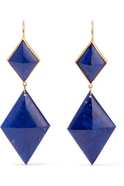 Marie-Hélène de Taillac 22-karat gold lapis lazuli earrings