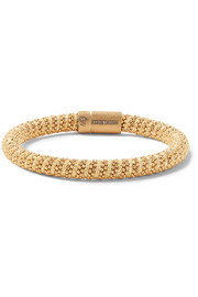 Twister 18-karat gold-plated and Lurex bracelet