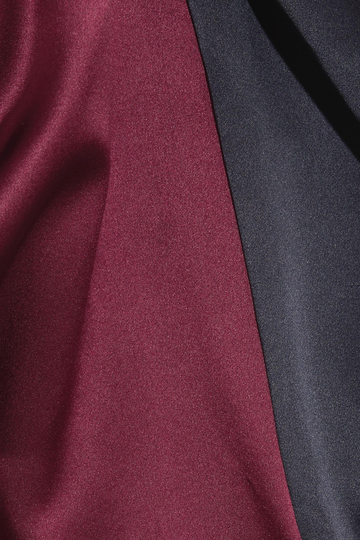 Michael Lo Sordo Zweifarbiges Hemd aus Seidensatin