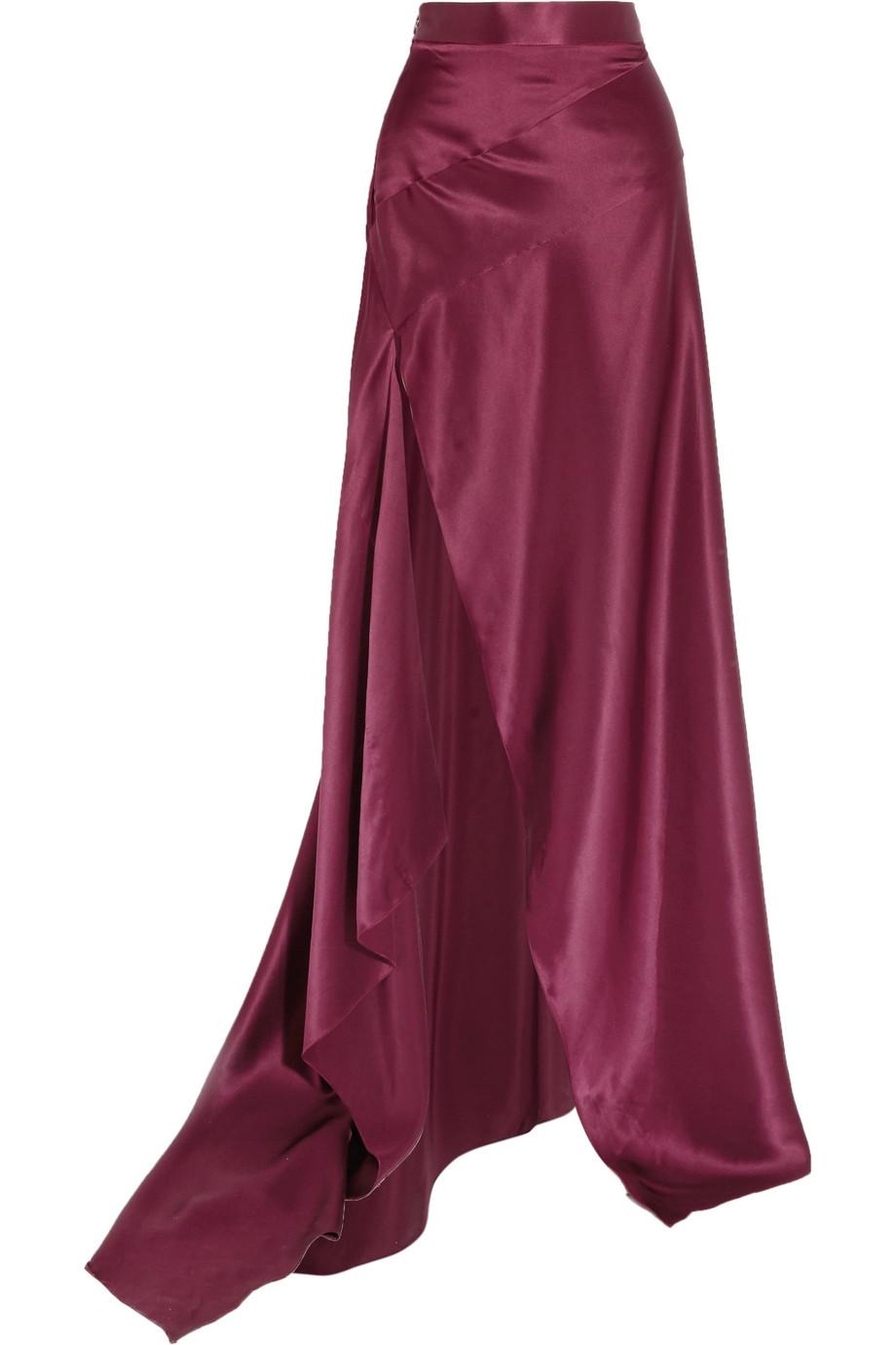 3961cb1508 Halfpenny London Georgie Pleated Satin Maxi Skirt Netaportercom | 2019  trends | xoosha