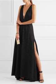 Michael Lo Sordo Alexandra lace and silk gown