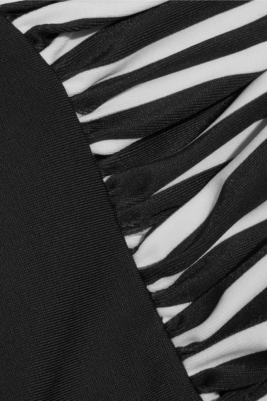 Perfect Moment Ruched striped bikini
