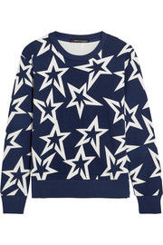 Starlight printed cotton-jersey sweatshirt