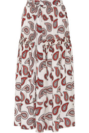 Dodo Bar Or Stevie paisley-print silk crepe de chine maxi skirt