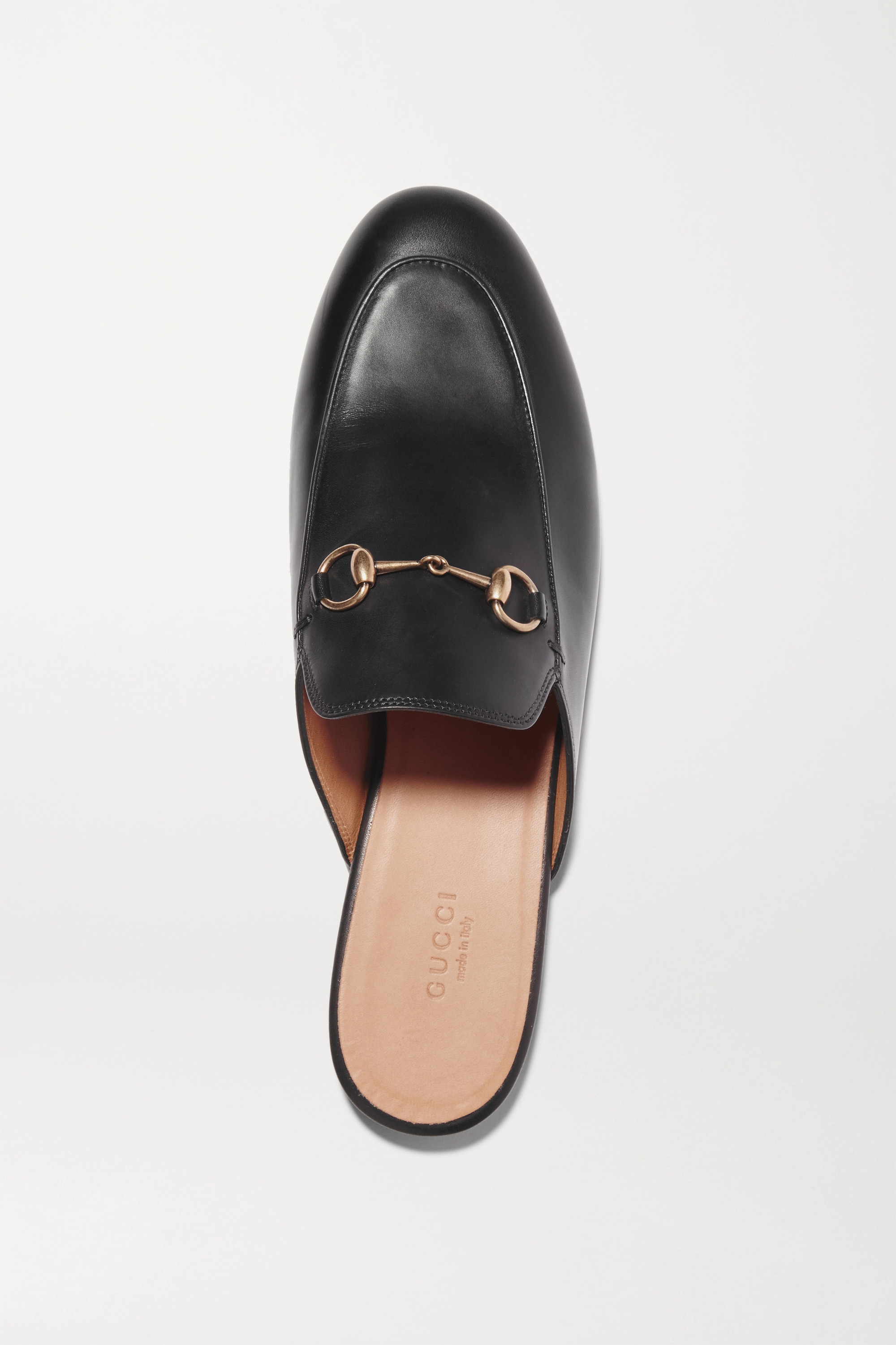 Black Princetown Horsebit Detailed Leather Slippers Gucci Net A Porter