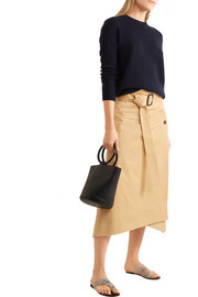 Joseph Berwick cotton-poplin wrap midi skirt