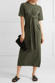 Joseph Ivana tie-front cotton-jersey midi dress